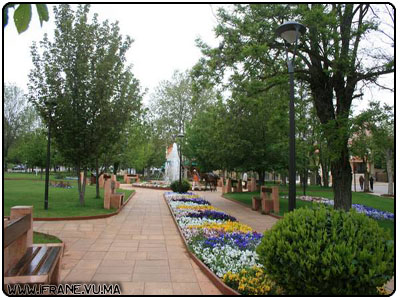 la fontaine du centre ville